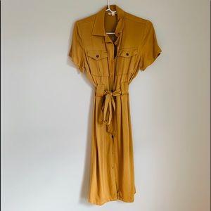 Feminine button down dress